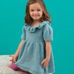 Sweet Sideways Dress Knitting Pattern