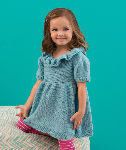 Sweet Sideways Dress Knitting Pattern
