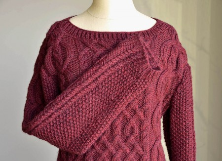 Valentina - Cabled Sweater - Free Knitting Pattern 1