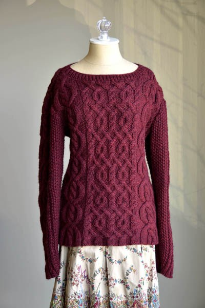 Valentina - Cabled Sweater - Free Knitting Pattern