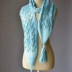 Water Ski Scarf - Free Lace Scarf Knitting Pattern