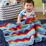Zigzag Baby Blanket - Crochet