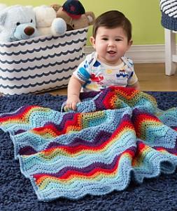 Zigzag Baby Blanket free baby crochet pattern blanket