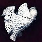 Angel in Flight Ornament - Crochet
