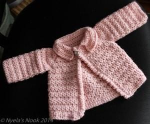 crochet baby caridgan