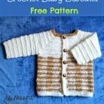 """Crochet Unisex Baby Sweater """"Heartbeat""""- Free Crochet Pattern with Tutorial"""