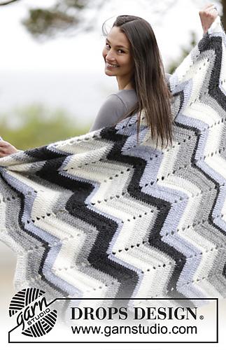 drops yarn blanket pattern free