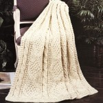 Free Knitting Pattern for a Cables & Diamonds Afghan