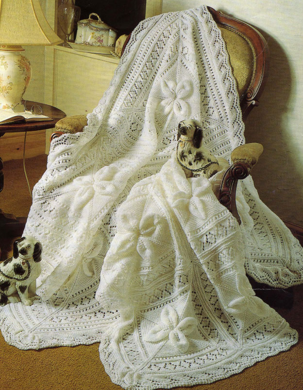 Heirloom Shawl and Cot Blanket
