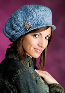 Newsboy Cap & Medallion Belt - Crochet Hat Pattern