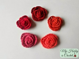 small rolles rose-free crochet pattern