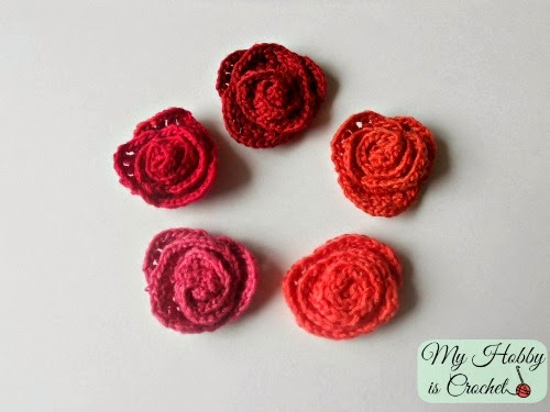 Small Crochet Roses Free Pattern Knitting Bee