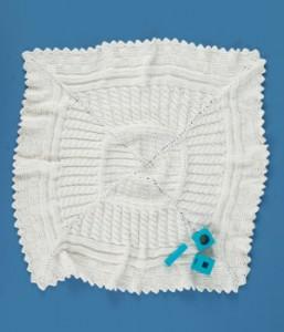 Aran Sampler Baby Blanket free knitting apttern