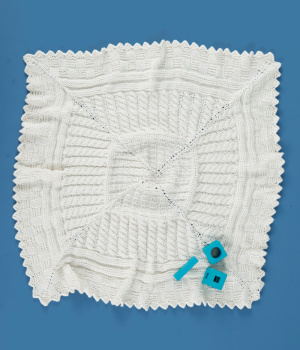 Free Knitting Pattern Aran Sampler Baby Blanket