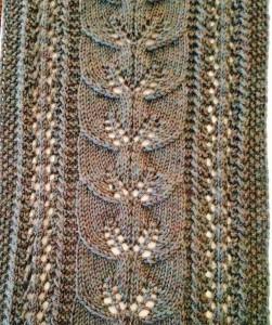Climbing Leaf Scarf Free Knitting Pattern