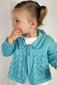 Here's My Heart Cardi - Knitting Pattern