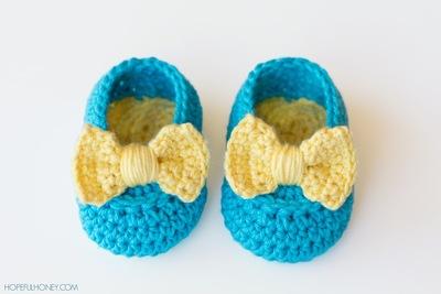 Lemon Drop Baby Booties Crochet Pattern