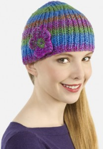 Ribbed-Knit-Cap-Flower