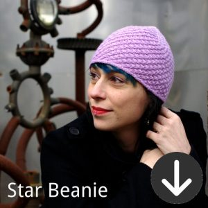 Star Beanie Free knit pattern
