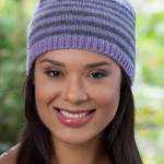 Woman's Striped Knit Hat Knitting Pattern