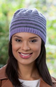 free kitting beanie pattern striped