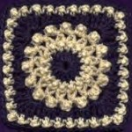 Antique Pearls Square - Free Crochet