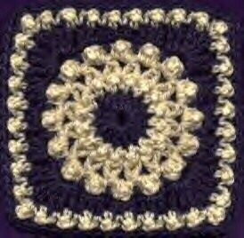 Antique Pearls Square - Free Crochet
