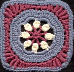Apple Blossom Time free Crochet Square Pattern