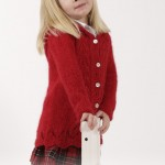 Bright Sally - Kids Lace and Cable Free Knitting Pattern for a Jacket
