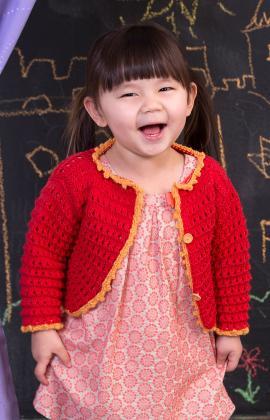Child's Eyelet Sweater Knitting Pattern free