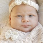 Crochet Baby Hair Band with Bow