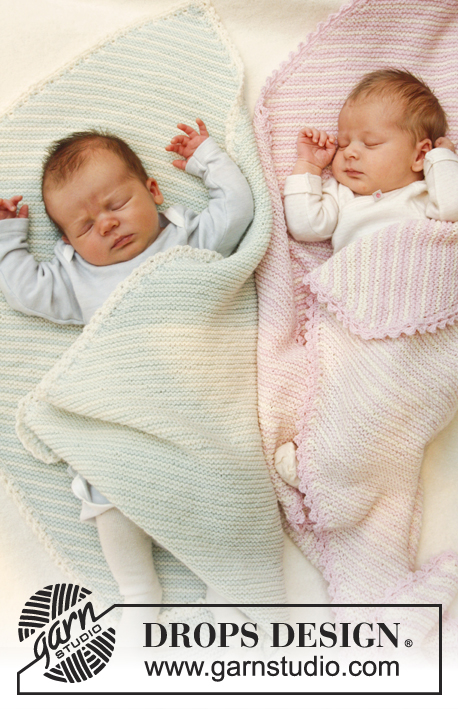 Dream State - Free Garter Stitch Baby Blanket Pattern