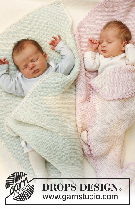 Dream State - Free Garter Stitch Baby Blanket Pattern