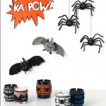 Free Knitting Patterns for Bats, Spiders and Candle Holders