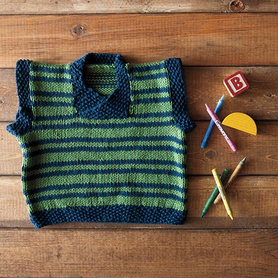 Happy Sheep Vest - Free Toddler Knitting Pattern