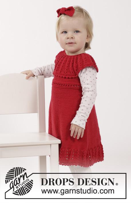 Little Hedda - Free Knitting Pattern for Girl's Dress 1