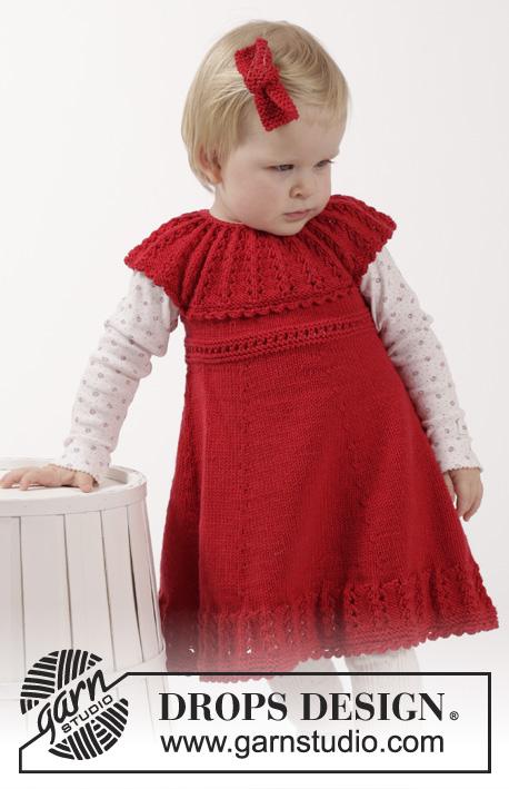 Little Hedda - Free Knitting Pattern for Girl's Dress