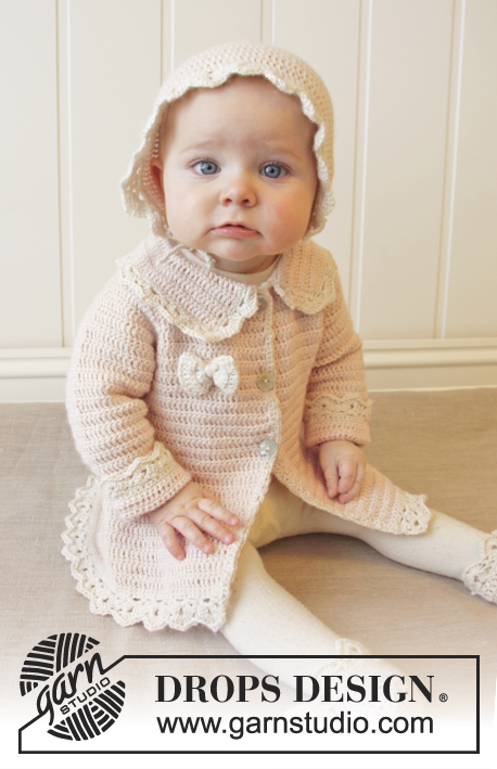 Little Lady Rose - Baby Crochet Jacket Pattern Free ⋆ Knitting Bee