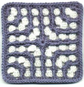 Maze Granny Square - Free Crochet