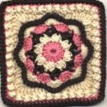 Nosegay Square -  Free Crochet