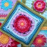 Prince Protea Square - Free Crochet Pattern