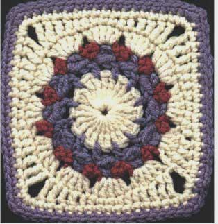 Ring 'O Roses Wreath - Free Crochet Square