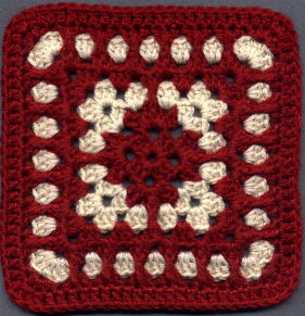 Crocheting In Spanish : Spanish Tile Square Free Crochet ? Knitting Bee