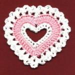 Valentine Coaster - crochet pattern