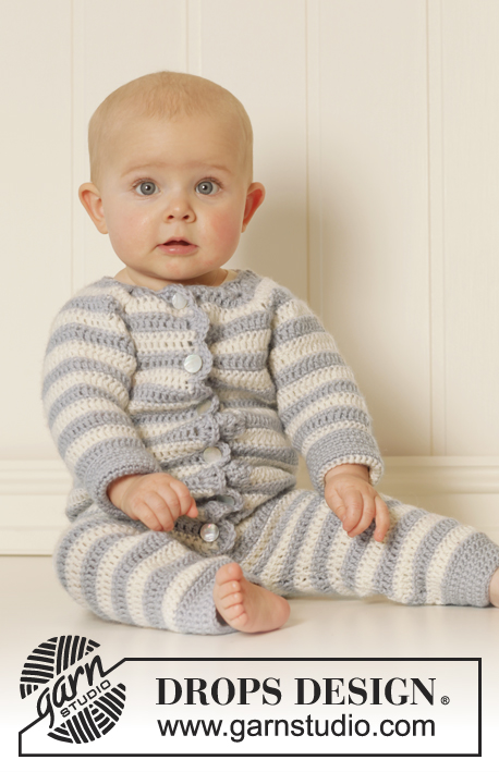 Baby Blues -  Free Crochet Baby Suit/Onesie