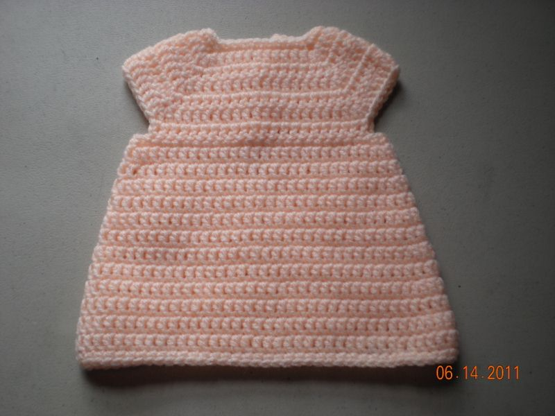 free crochet A-Line Dress baby
