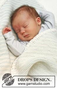 free garter stitch baby blanket pattern 1
