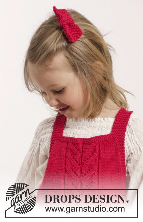 free knitting pattern girls dress