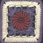 Irish Ivy Rose Free Crochet Square Pattern