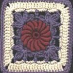 Irish Ivy Rose Free Crochet Square Pattern